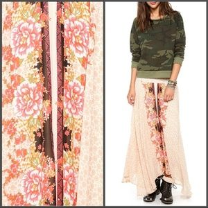 Free People maxi high&low skirt